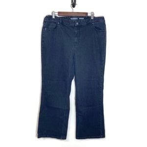 Liz Claiborne women's gray black blue jeans 18w
